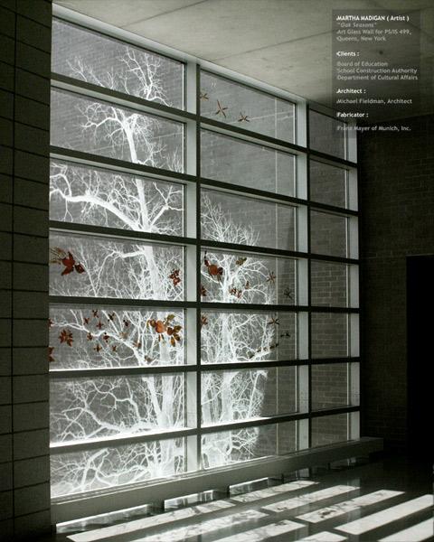 """Oak Seasons "" PS IS 499 Public School Queens, NY - by Martha Madigan"